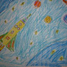 Зарема Зевджетовна Куртумерова в конкурсе «Помоги космонавтам добраться до Марса! Нарисуй космический шатл»