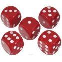 Набор игральных костей Компания Игра, 20 мм, цвет: красный, 5 шт