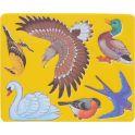 Луч Трафарет прорезной Птицы цвет желтый