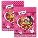 Action! Набор цветного картона и бумаги Love is... 16 листов 2 шт цвет розовый