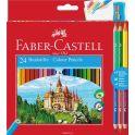 Faber-Castell Набор цветных карандашей Замок 24 цвета с точилкой + 3 двухцветных карандаша