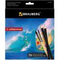 Brauberg Набор акварельных карандашей Artist Line 24 цвета