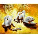 """Набор для рисования по номерам Цветной """"Лебединая семья"""", 40 х 50 см"""