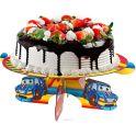 Страна Карнавалия Подставка для пироженых С днем рождения Тачки 1070533