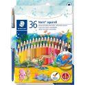 Staedtler Набор акварельных карандашей Noris Club с кисточкой 36 цветов