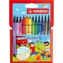 STABILO Набор фломастеров Pen 68 Mini 12 цветов 668/12
