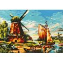 """Картина по номерам Рыжий кот """"Старая мельница"""", Х-6144, 44 х 40 см"""