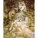 """Картина по номерам Школа талантов """"Отдыхающие волки"""", 2461705, 30 х 40 см"""