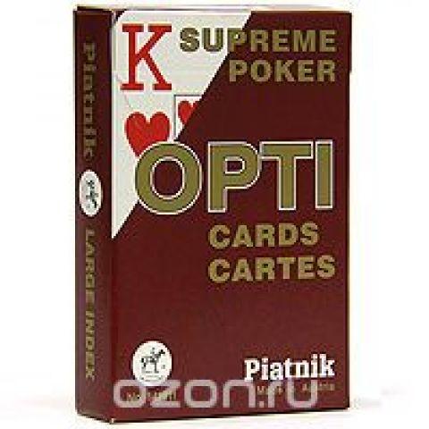 """Карты игральные профессиональные Piatnik """"Opti Poker"""", 55 карт"""