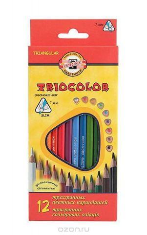 """Цветные карандаши """"Triocolor"""", 12 цветов"""