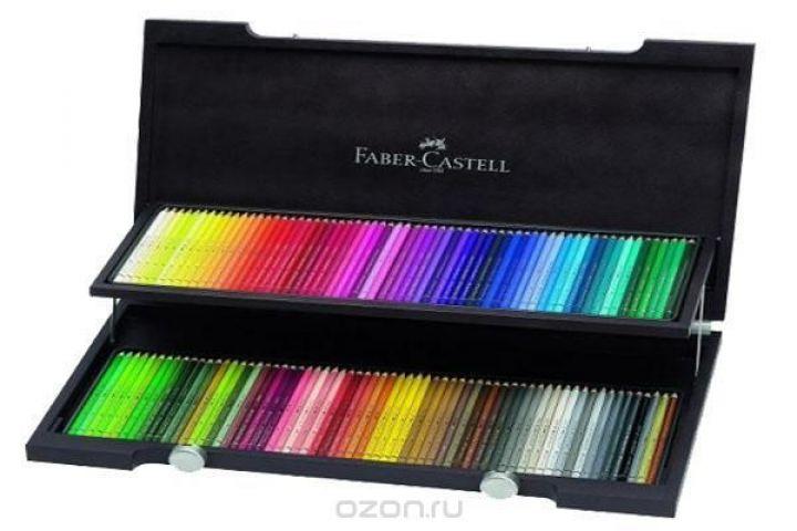 Художественный набор с акварельными карандашами ALBRECHT DURER®, набор цветов,  в деревянном пенале, 120 шт.