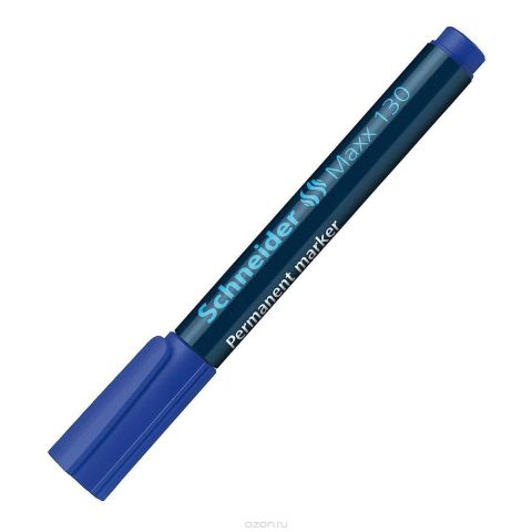 Маркер Permanent 130; 1-3 мм, синий.