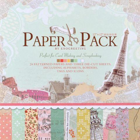 """Набор бумаги для скрапбукинга """"Радужные краски"""", 30,5 см х 30,5 см, 27 листов"""