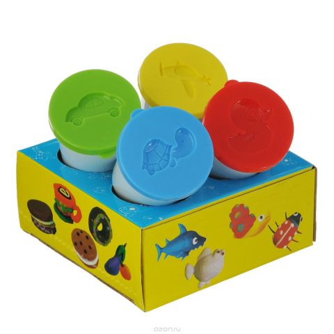 "Тесто для лепки Centrum ""Hobby Kit: Color dough"", 4 цвета"