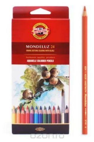 Набор карандашей акварельных MONDELUZ, 24 цв