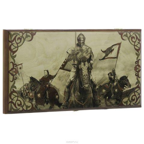"""Нарды малые Perfecto """"Конные рыцари"""", размер: 40х40х4 см. 280s"""