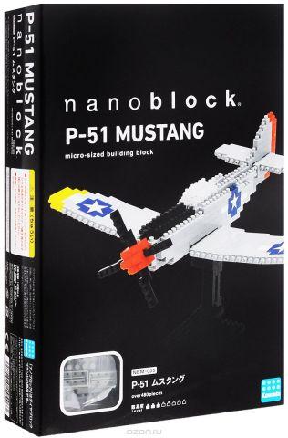 Nanoblock Мини-конструктор Самолет P 51 Мустанг