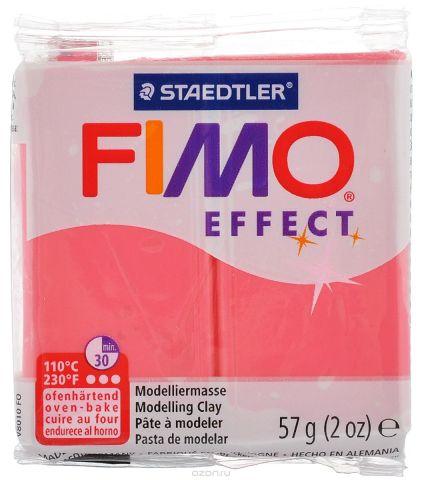 """Полимерная глина Fimo """"Effect"""", цвет: полупрозрачный красный, 57 г"""