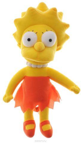 Simpsons Мягкая игрушка Лиза Симпсон цвет желтый морковный 36 см
