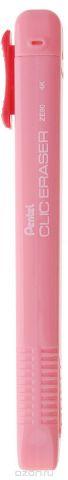 Pentel Ластик-карандаш Clic Eraser цвет розовый