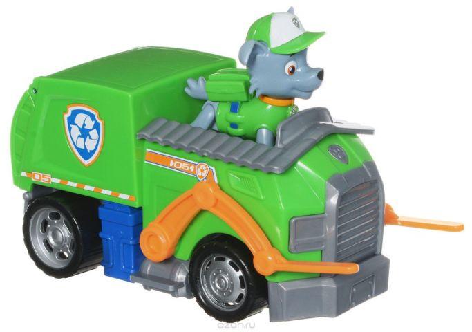 Paw Patrol Игровой набор Мусоровоз спасателя и щенок Рокки