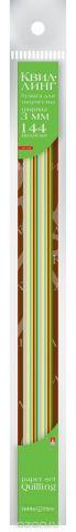 Альт Бумага для квиллинга 3 мм 144 полосы 12 цветов