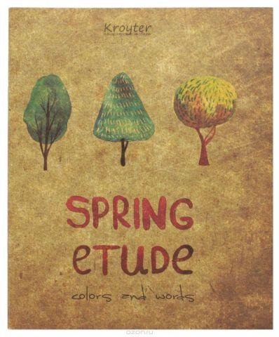 Kroyter Тетрадь Spring Etude 48 листов в клетку