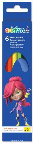 Adel Набор цветных карандашей Adeland 6 шт