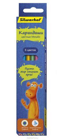 Silwerhof Карандаши цветные Джинсовая коллекция с эффектом Metallic 6 цветов