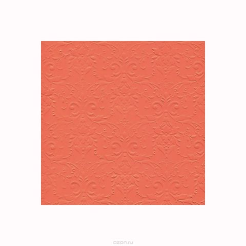 """Бумага фактурная Лоза """"Дамасский узор"""", цвет: оранжевый, 3 листа"""