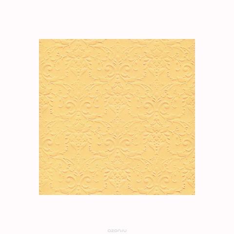 """Бумага фактурная Лоза """"Дамасский узор"""", цвет: желтый, 3 листа"""