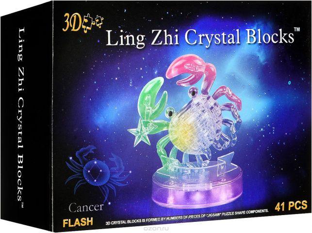 3D Ling Zhi Crystal Blocks 3D Пазл Рак с подсветкой