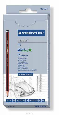 Staedtler Набор чернографитовых карандашей Tradition 12 шт