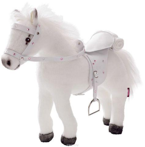Gotz Транспорт для кукол Лошадь с седлом и уздечкой цвет белый