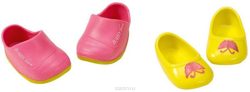 Baby Born Ботиночки для кукол цвет желтый розовый 2 пары