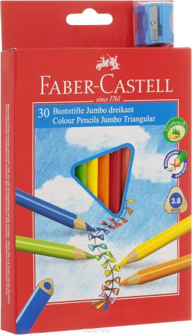 Faber-Castell Набор цветных карандашей Junior Grip 30 шт