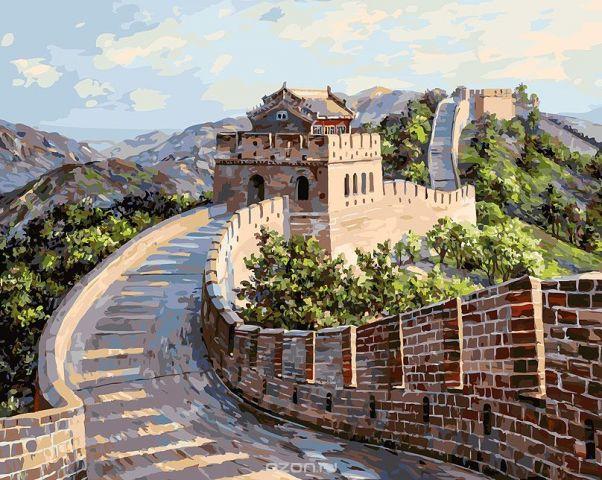"""Живопись на холсте Белоснежка """"Великая Китайская стена"""", 40 х 50 см"""