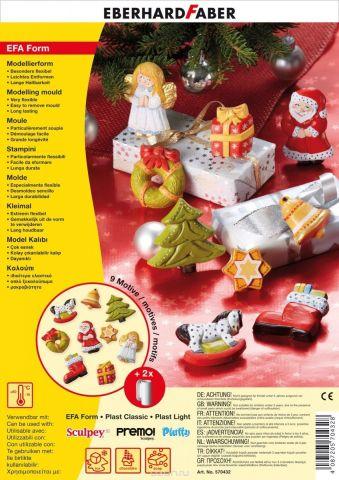 Eberhard Faber Набор формочек для лепки Рождество