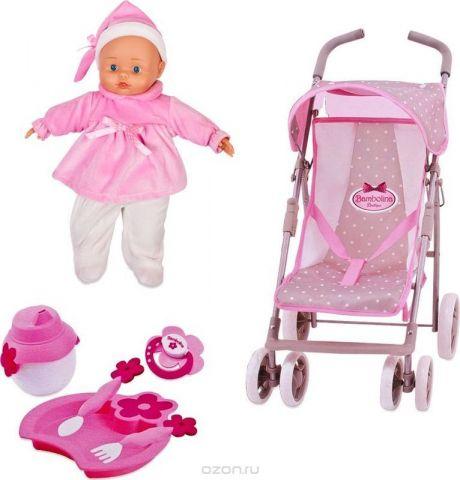 Bambolina Игровой набор с куклой Прогулочная коляска