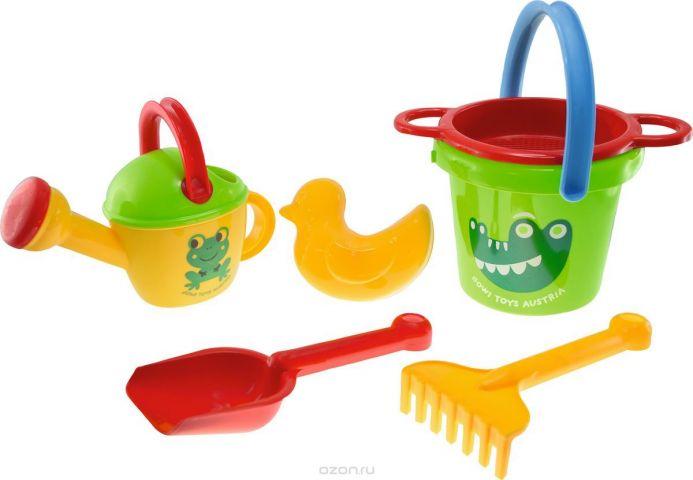 Gowi Набор игрушек для песочницы Крокодил 6 предметов