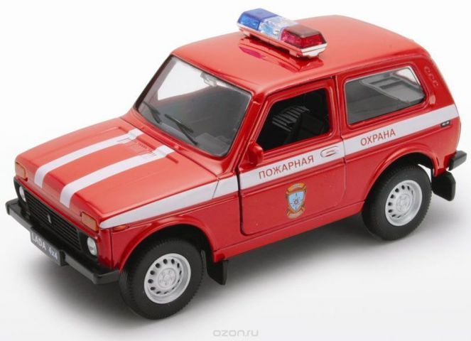 Welly Модель автомобиля LADA 4x4 Пожарная охрана