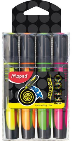 Maped Набор маркеров Fluo Pep'S Max 4 цвета