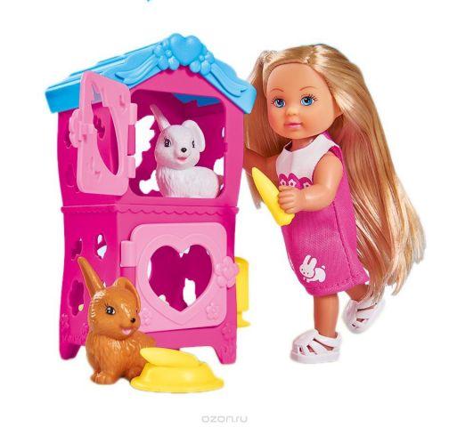Simba Мини-кукла Еви с кроликами