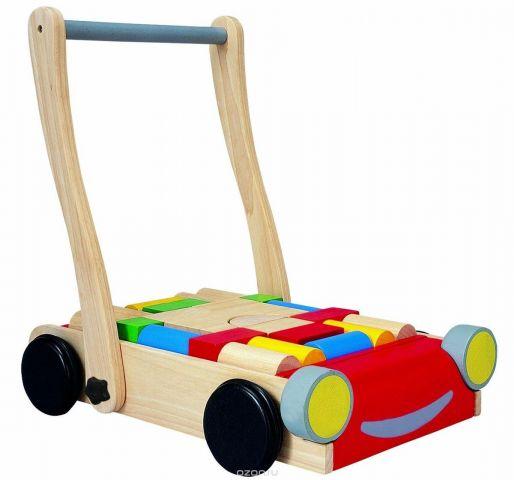 Plan Toys Конструктор Тележка с блоками