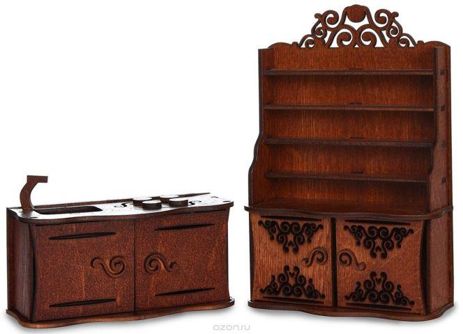 ЯиГрушка Мебель для кукол Кухня цвет коричневый