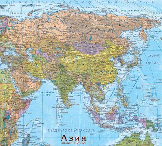 Геоцентр Пазл Карта Азия