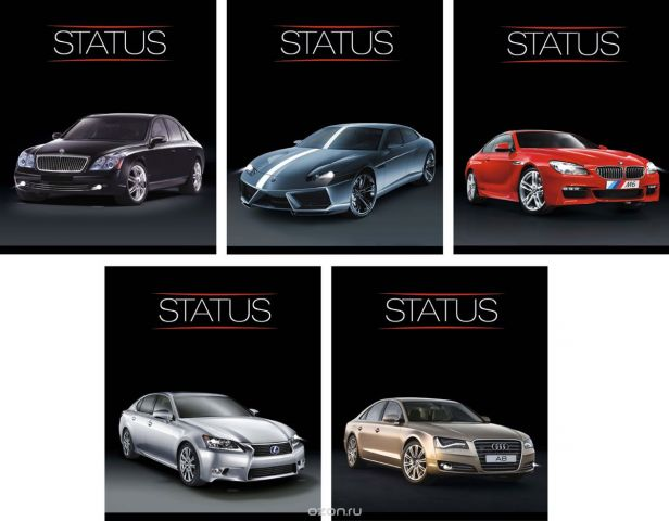 КТС-Про Набор тетрадей Luxury Car 48 листов в клетку 5 шт