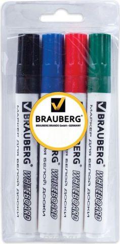 Brauberg Набор маркеров для доски 4 цвета 150417