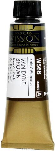 Mijello Акварель Mission Gold цвет W566 Ван Дайк коричневый 15 мл MWC-W566