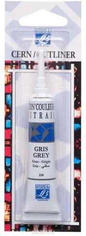 """Контур по стеклу и керамике без обжига Lefranc & Bourgeois """"Outliner"""", цвет: серый (250), 20 мл"""